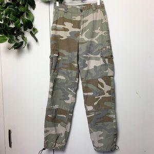 TOPSHOP Army Green Combat Camo Cargo Pants